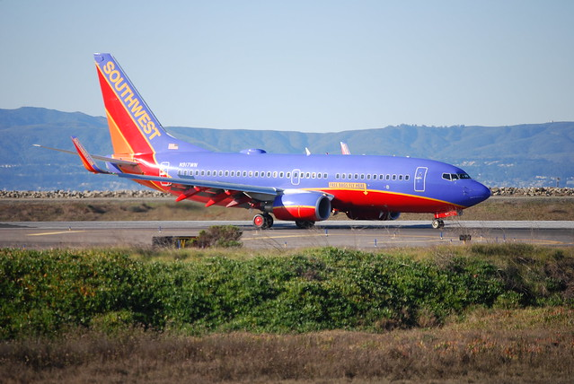Southwest Airlines Boeing 737-700 after landing