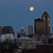 Des Moines Skyline - Setting Moon by w4nd3rl0st (InspiredinDesMoines)