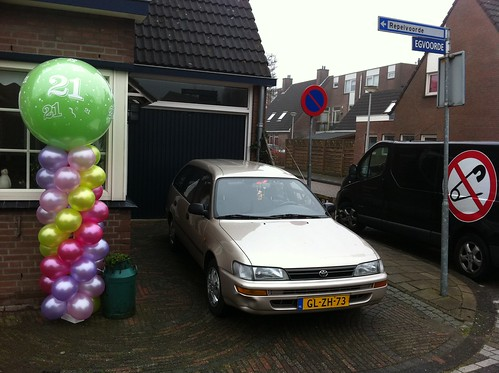 Ballonpilaar Breed Rond 21e Verjaardag Spijkenisse