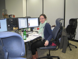 Film Weekly producer Lucy Greenwell writing the script for the Guardian's Oscar night podcast