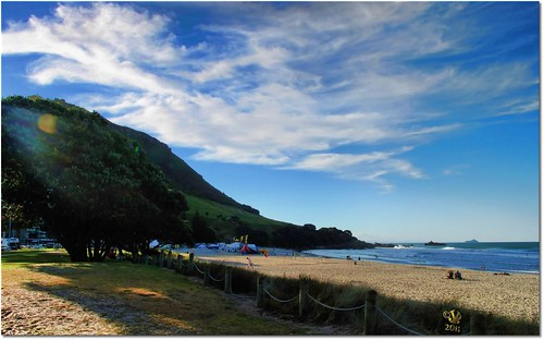 Mount Maunganui with beach