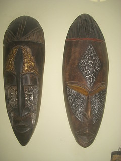 Two african masks