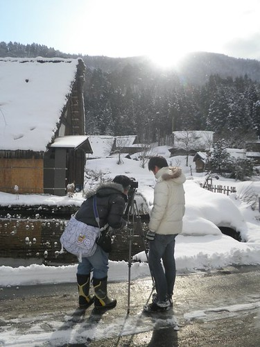 Shooting the sunrise at Shirakawa-go