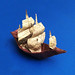 Origami full-rigged ship