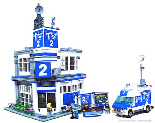 Lego City TV News Station