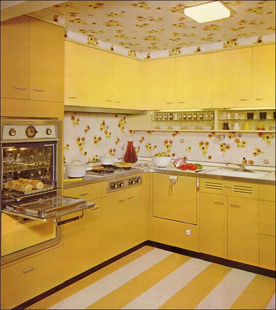 Mid Century Yellow! Kitchen