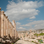 Walking Down the Cardo of Ancient Jerash - Jordan