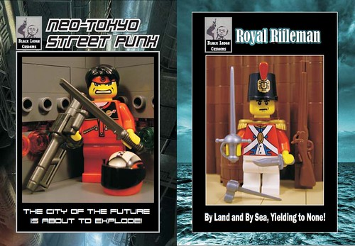 Black Lodge Custom Figs for Bricks By the Bay 2011 - Neo-Tokyo Street Punk (V2) and Royal Rifleman!