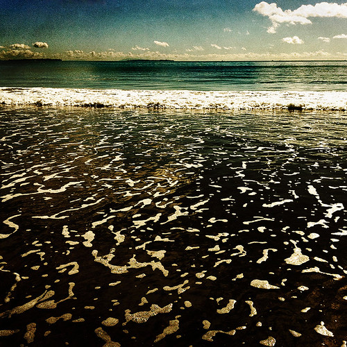 ocean sea beach waves sunny foam iphone takapunbeach