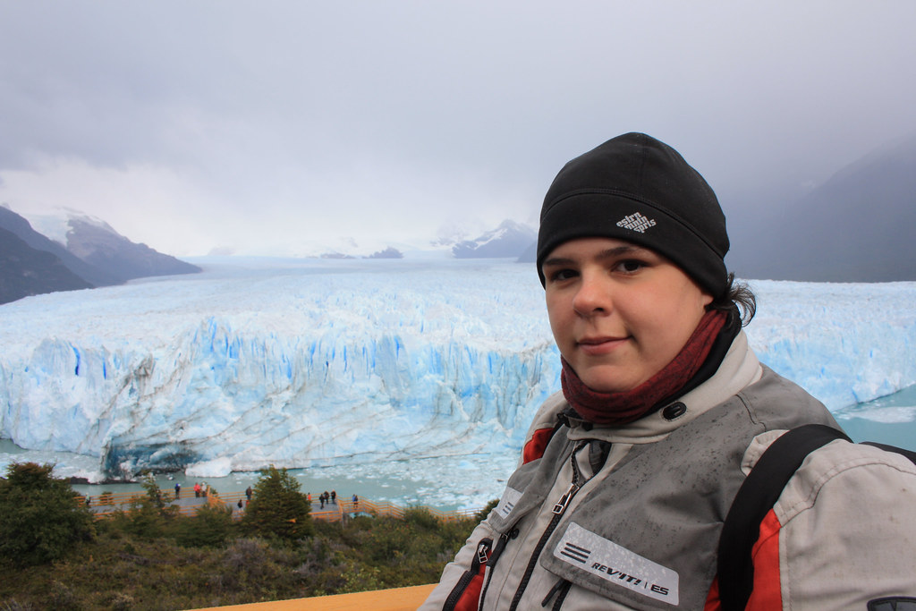Dachary at Perito Moreno Glacier