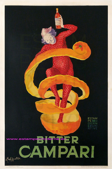 Bitter campari cappiello original vintage poster