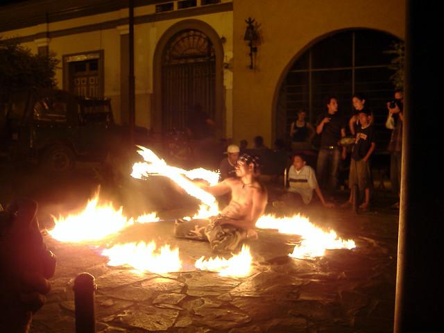 Nicaraguan street performer