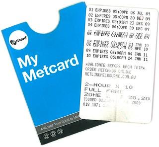 My last Metcard