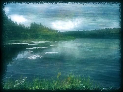 blue lake green water canon landscape photography sweden mueller hyltebruk