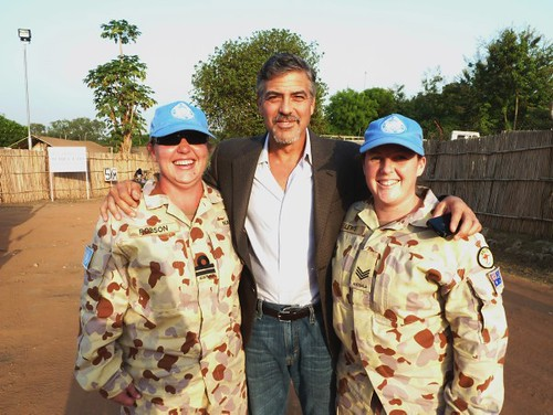 George Clooney in southern Sudan