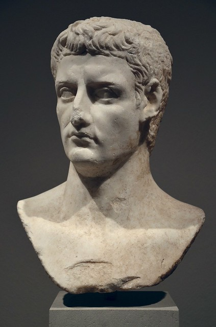 Bust of Emperor Claudius reworked from a statue of his predecessor Caligula, Altes Museum Berlin