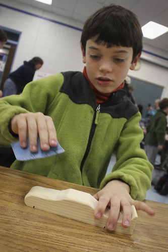 secret tip of pinewood derby: sand your car