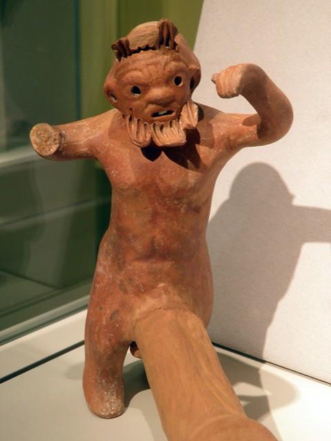 Erotic Figure-shaped Roman Oil Lamp, Altes Museum Berlin
