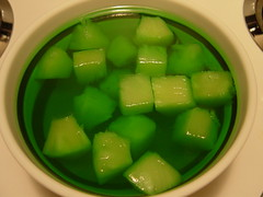 lime jello with pineapple chunks