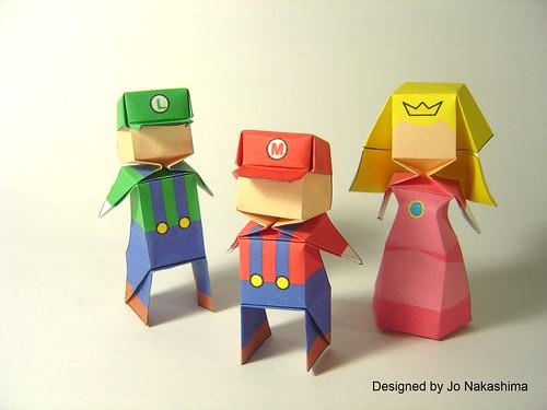 схему человека оригами из