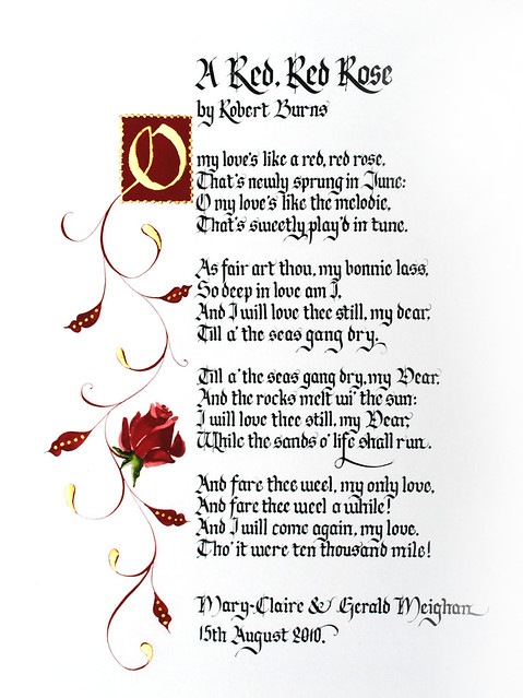 red red rose robert burns essay My love is like a red, red rose robert burns poem this was read at my wedding my love is like a red found my essay topic don't forget, with an english accent.