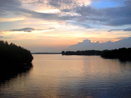sunset ontario canada river hills trent campbellford