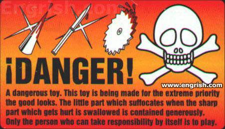 dangerous toy warning label