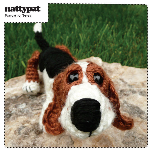 Amigurumi Hound Dog : Barney the Basset Crochet Pattern Nose to the ground and ...