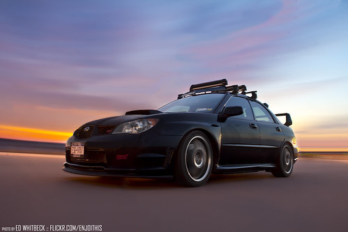 2006 STi, Winter sunset rig shot