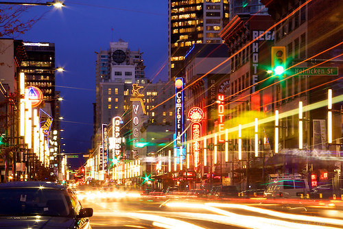 Tonight in Vancouver - Granville Street: Vancouver Light Central!