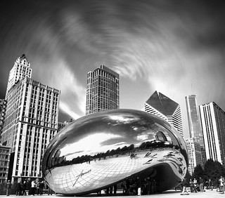 "Cloud Gate, ""The Bean"", Millennium Park, The Loop, Chicago, Illinois, USA."