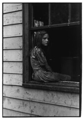 Girl sitting on windowsill, Kentucky, 1964, by William Gedney