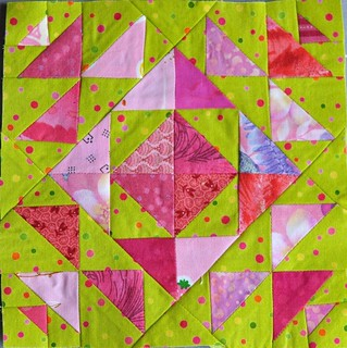 pink and green block