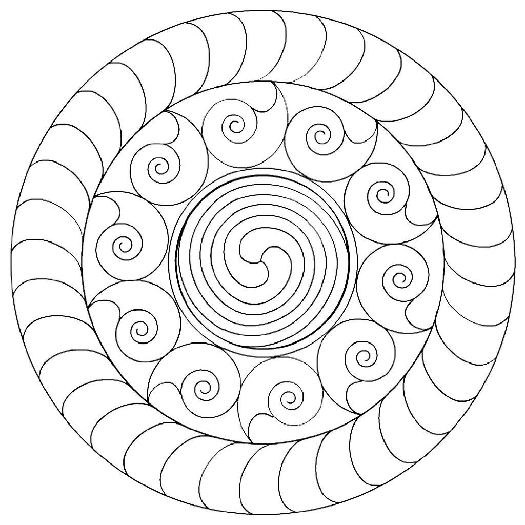 Healing mandala coloring pages - Molq New Moon 3 4 11