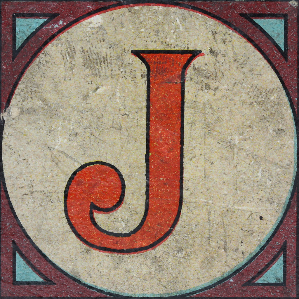 Vintage letter j variants.... apologise