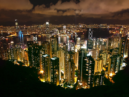 skyline night skyscraper island hongkong cool view kowloon futuristic victoriapeak gorillapod