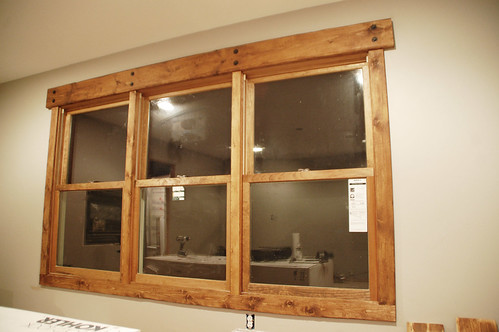 A diy photoset rustic window trim diydiva for How to paint wood windows interior