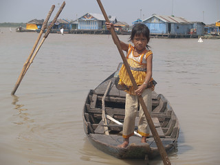 School Run, Tonle Sap, Cambodia