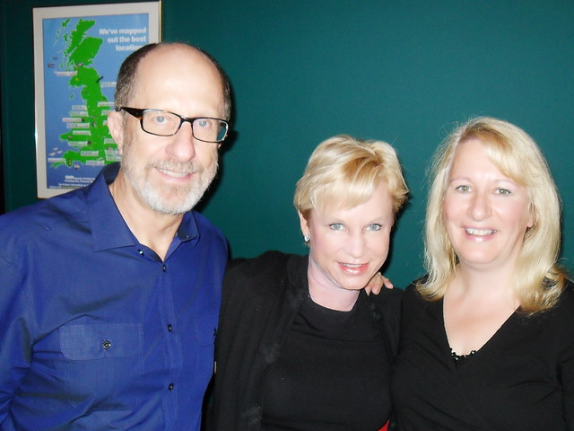 Catherine with Heidi and Rolland Baker, Glasgow