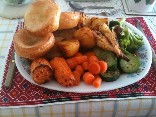 Mum's roast dinner at the end of the Half Marathon. Lovely.