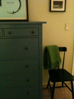 dresser and chair in the bedroom