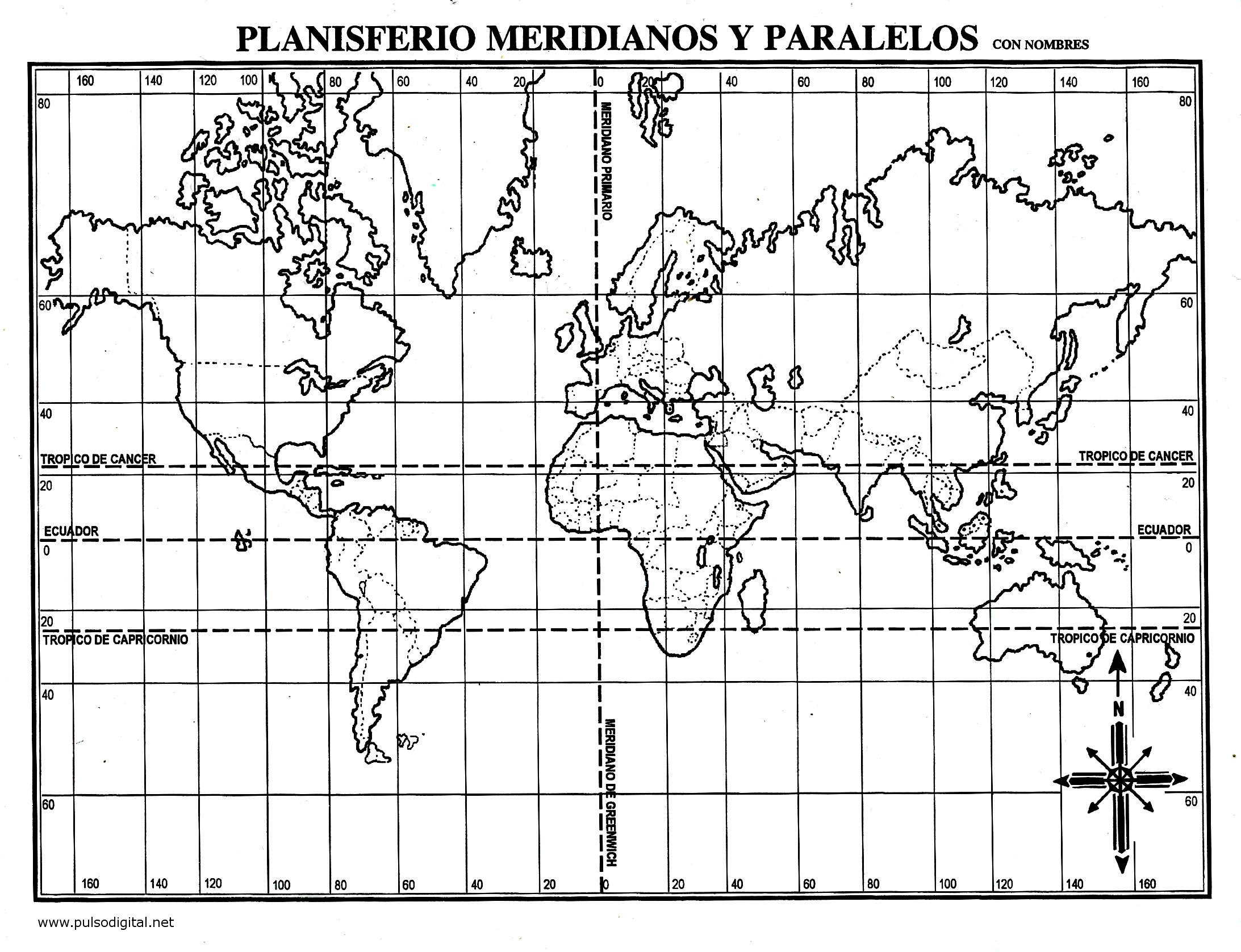 Planisferio coordenadas - Imagui