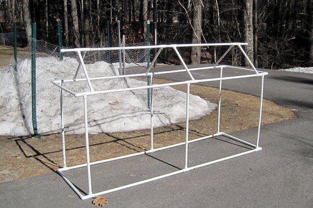 Diy greenhouse cold frame flickr photo sharing for Do it yourself greenhouse plans