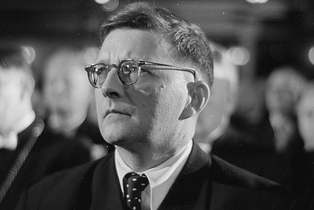 Dimitry Shostakovich, 1950. Deutsche Fotothek