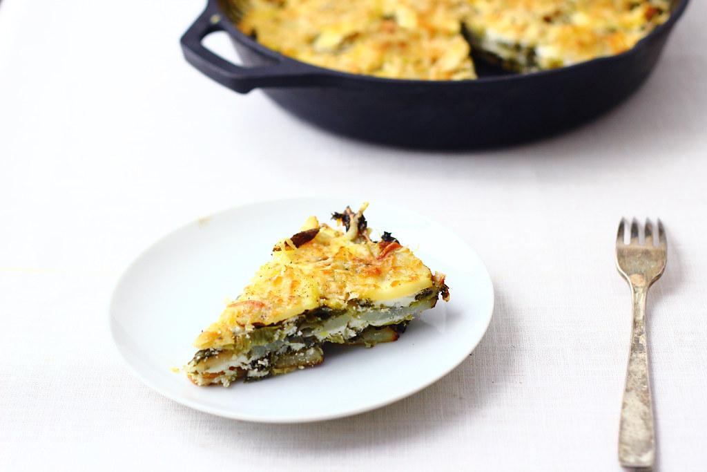 Potato + Kale Skillet Gratin