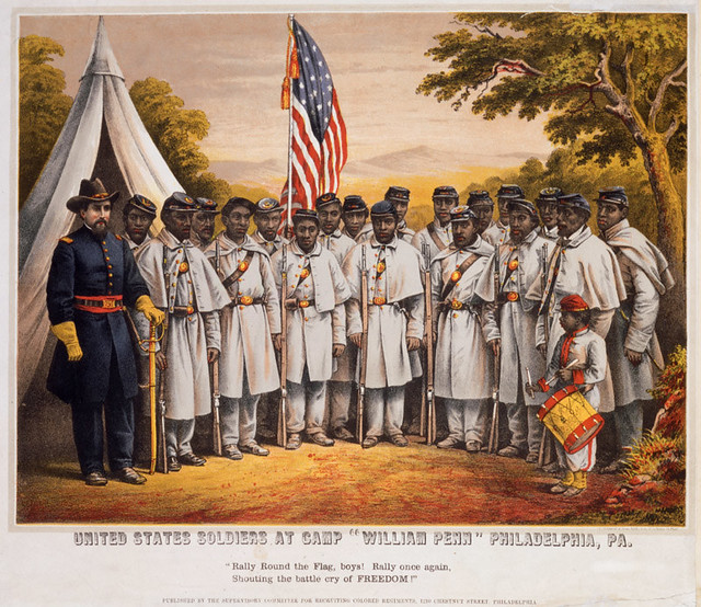 "United States soldiers at Camp ""William Penn"" Philadelphia, PA., 1863"
