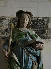Sainte Savine, statue du XVIe siècle, église de  Puellemontier (Haute Marne)