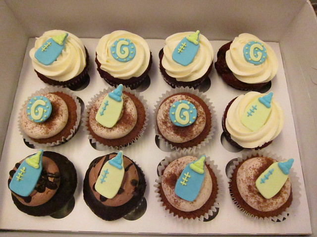 baby boy shower cupcakes flickr photo sharing