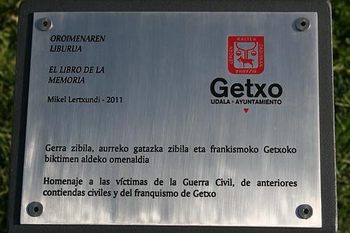 Homenaje a las víctimas de la guerra civil y del franquismo de Getxo