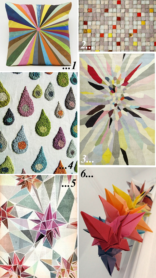 colour pinning : bright geometry / picks by Emma Lamb